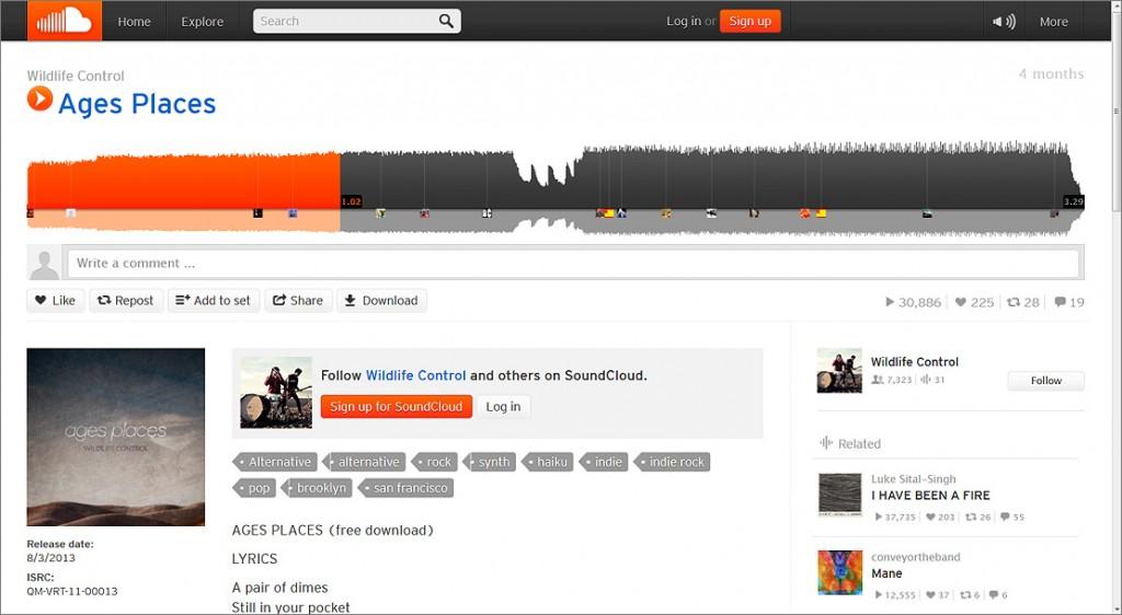 Soundcloud-Screenshot