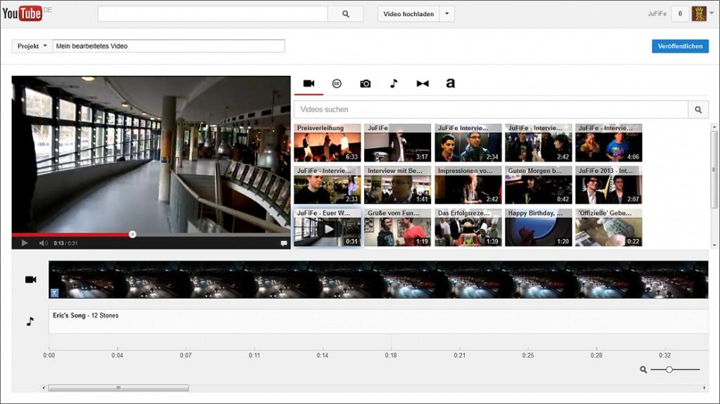 YouTube Video Editor: Screenshot