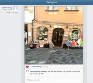 Instagram Screenshot Actionbound-Stationen